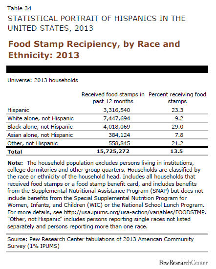 Food Stamp Recipiency, by Race and Ethnicity: 2013