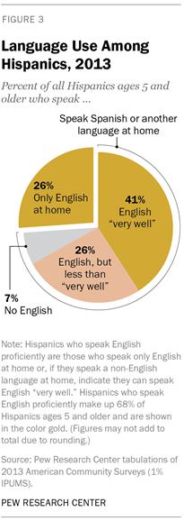 Language Use Among Hispanics, 2013